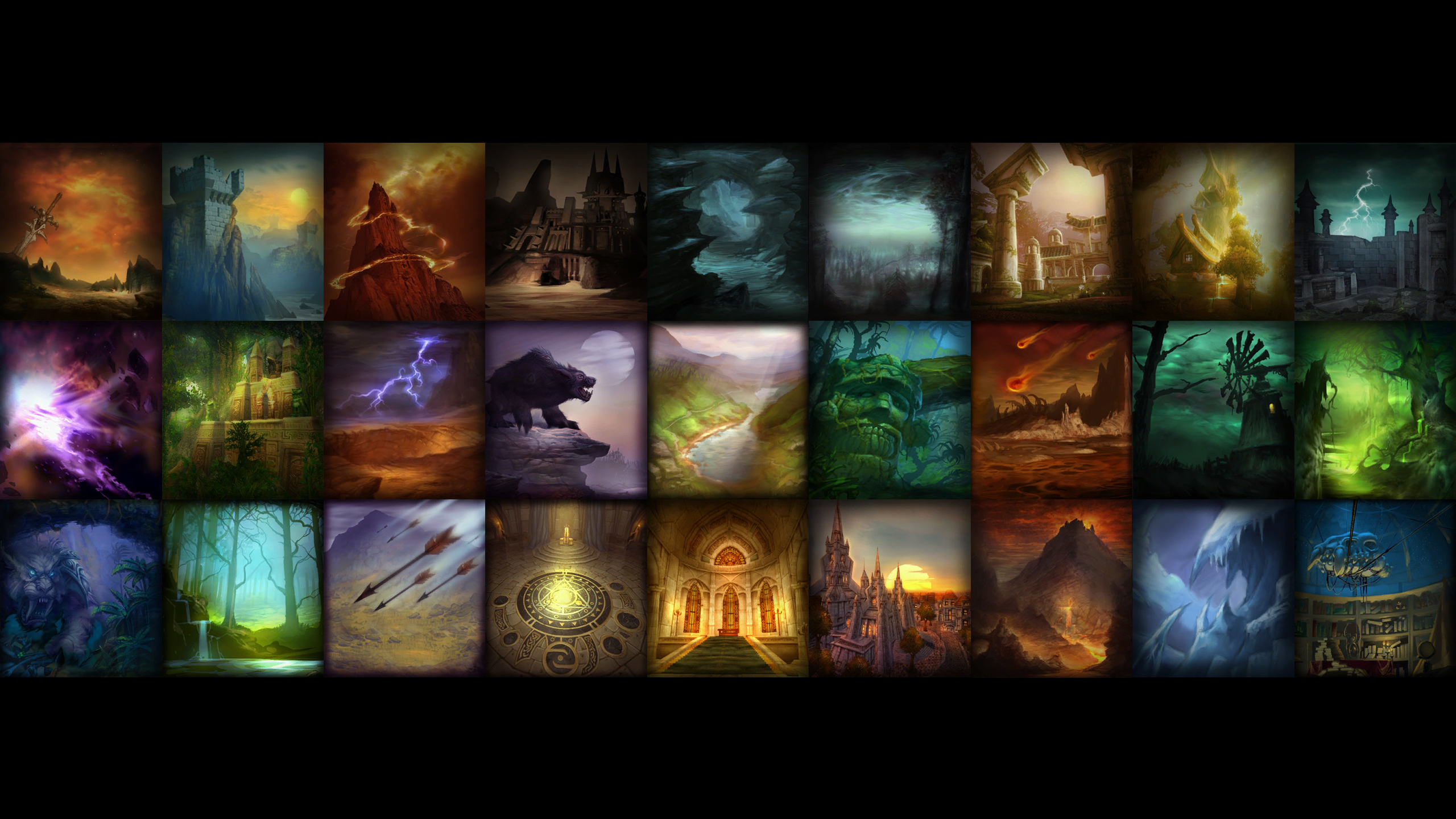 Wallpaper] All Classic WoW Talent Backgrounds classicwow 2560x1440