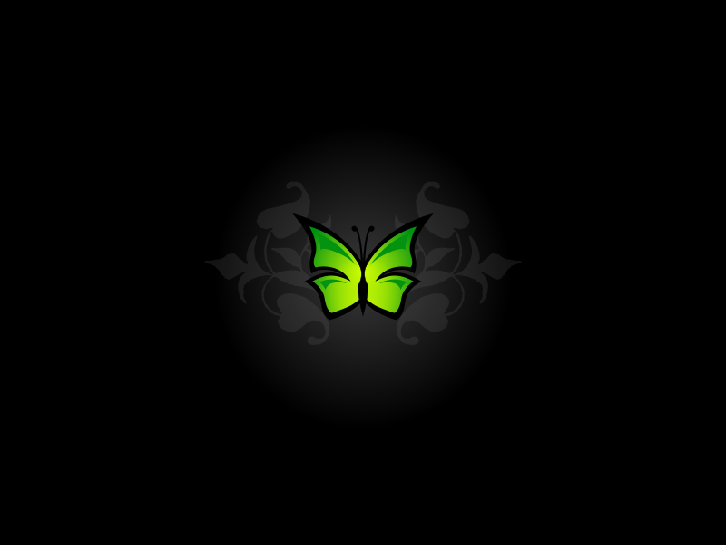 Simple butterfly wallpaper by lemmling   A minimalistic wallpaper I 800x600