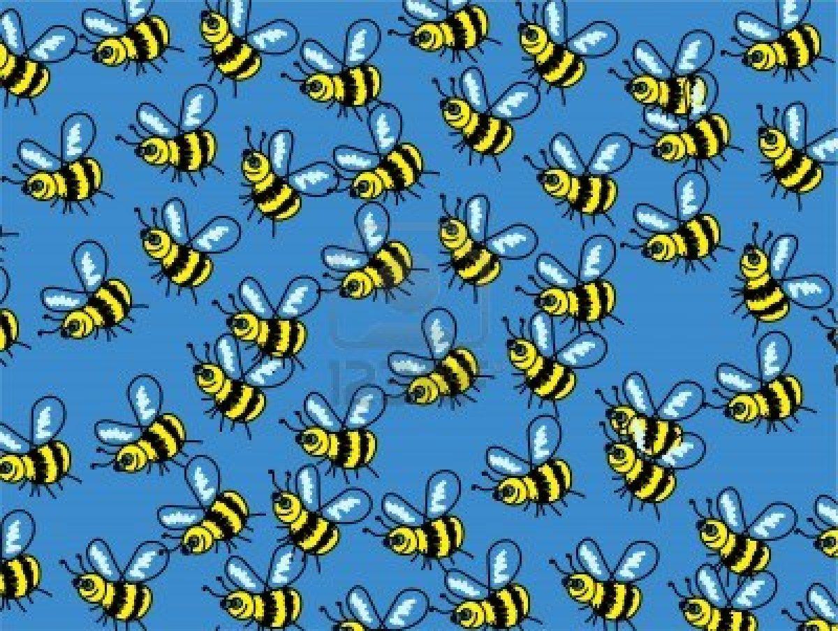 Cute Cartoon Bumble Bee Wallpaper Background Design   1200x903px 1200x903