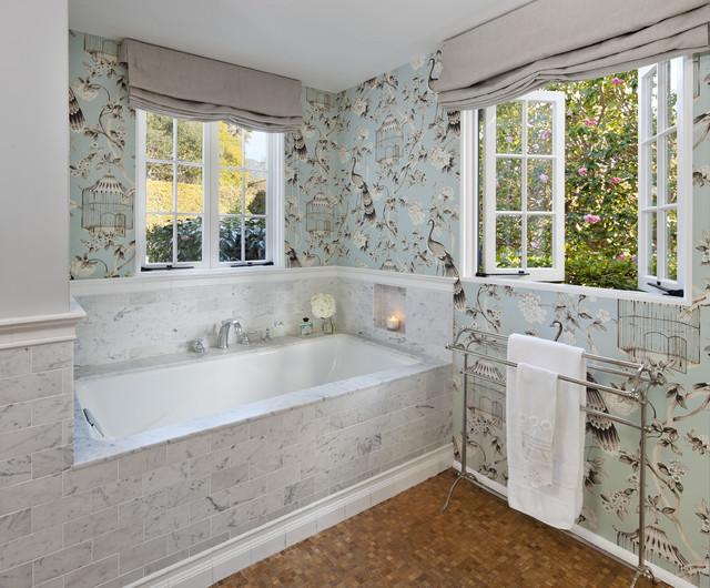 Bathroom Wallpaper   Traditional   Bathroom   santa barbara   by 640x530