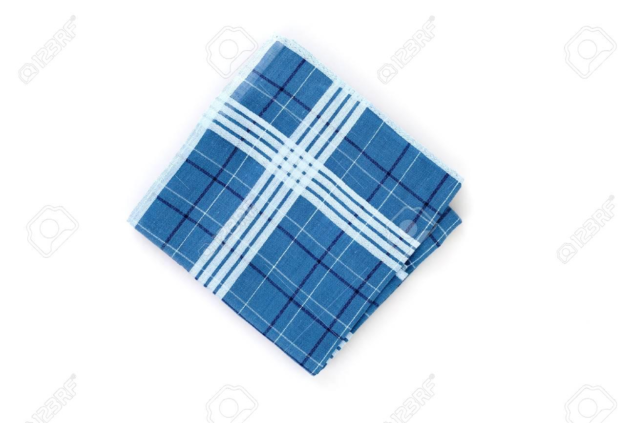 Close Up Of Handkerchief On White Background Stock Photo Picture 1300x866