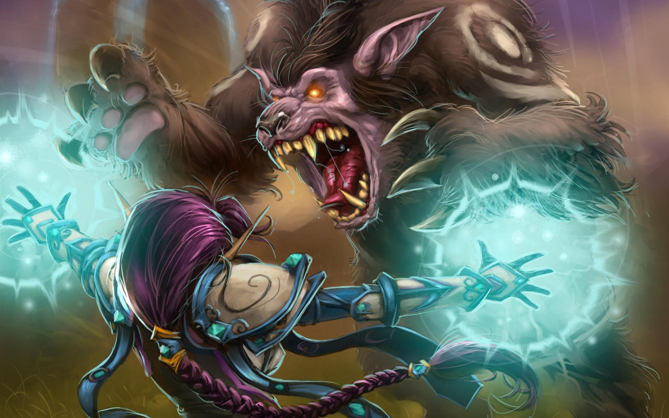 World of Warcraft   Druid Attack desktop wallpaper 2560x1600