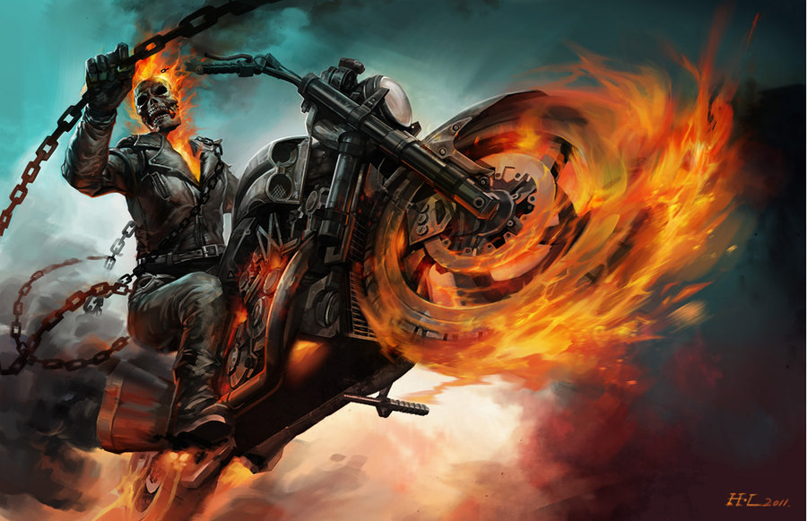 GHOST RIDER by hualu 900x581