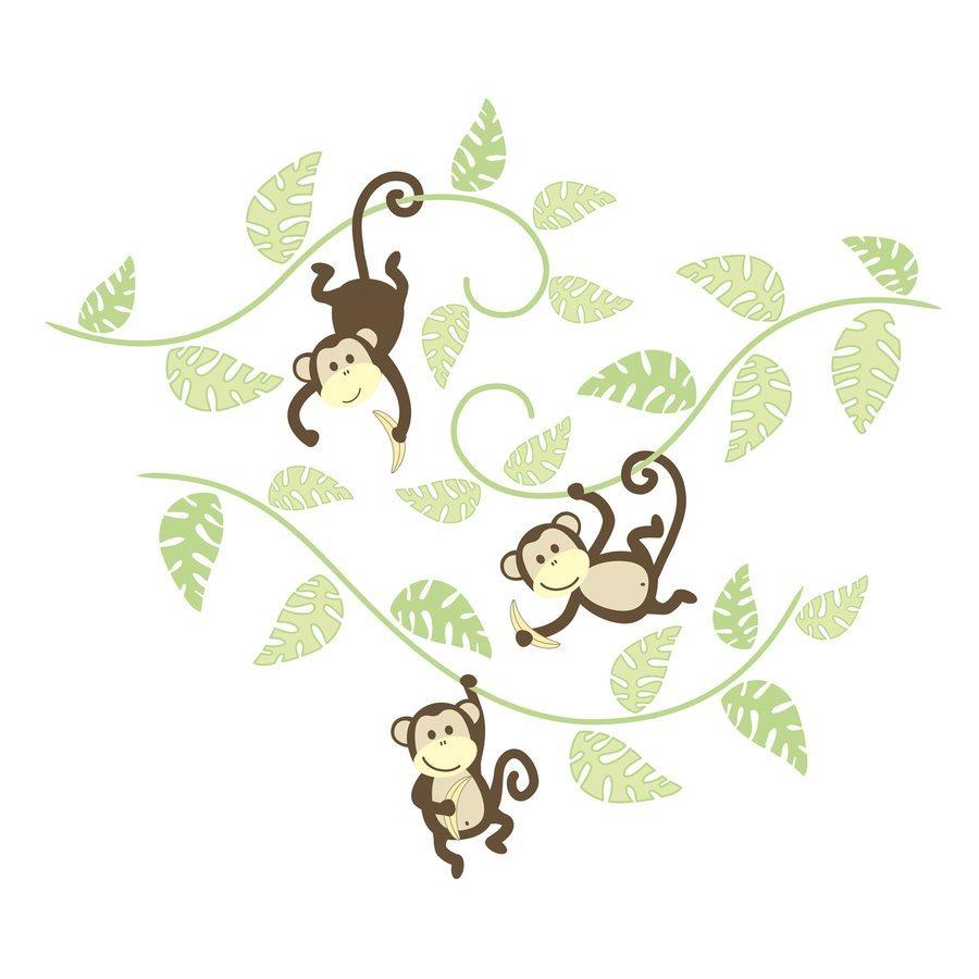 WallPops Peel and Stick Monkeying Around Wall Art Sticker Kit 900x900