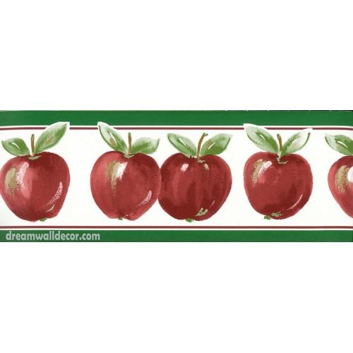 Green Red Running apple Wallpaper Border 500x500