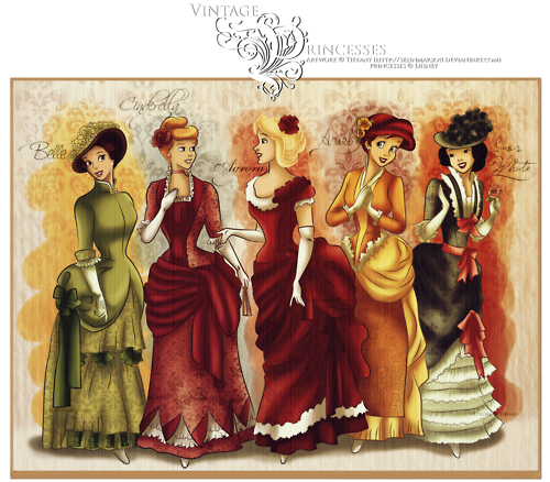 Vintage Princesses Wallpaper and background images in the Disney 500x438