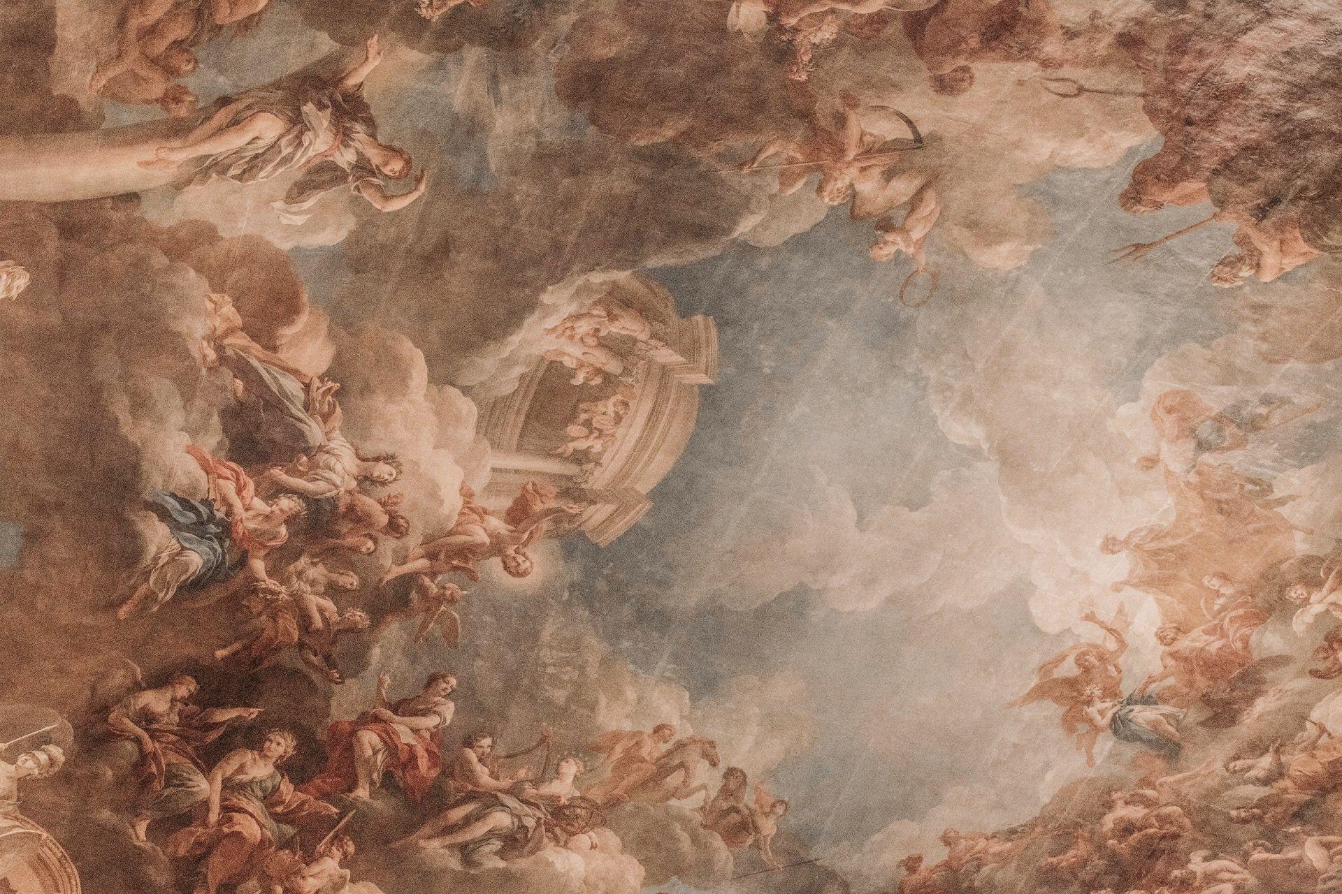 The walls are so beautiful Roman painting Renaissance art 1920x1280