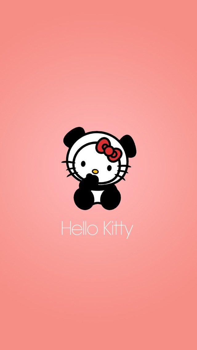 Cute Hello Kitty With Pink Background iPhone 5 5S 5C Wallpaper 640x1136