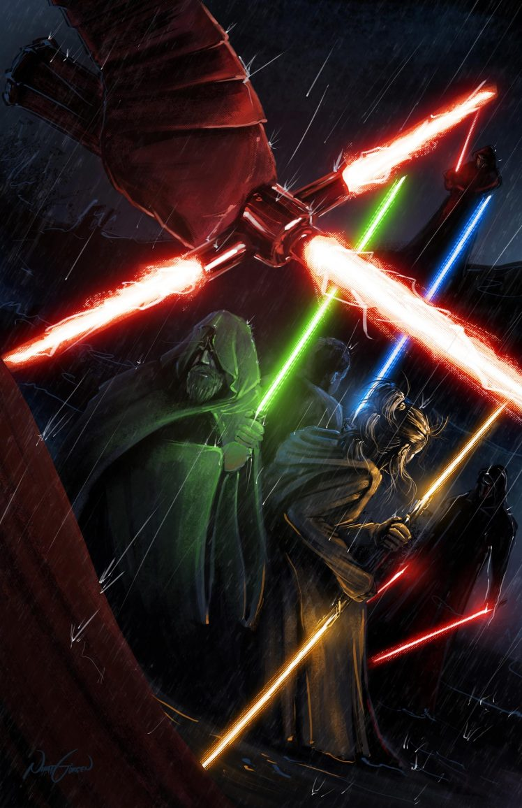 digital art Star Wars Lightsaber Wallpapers HD Desktop and 748x1156