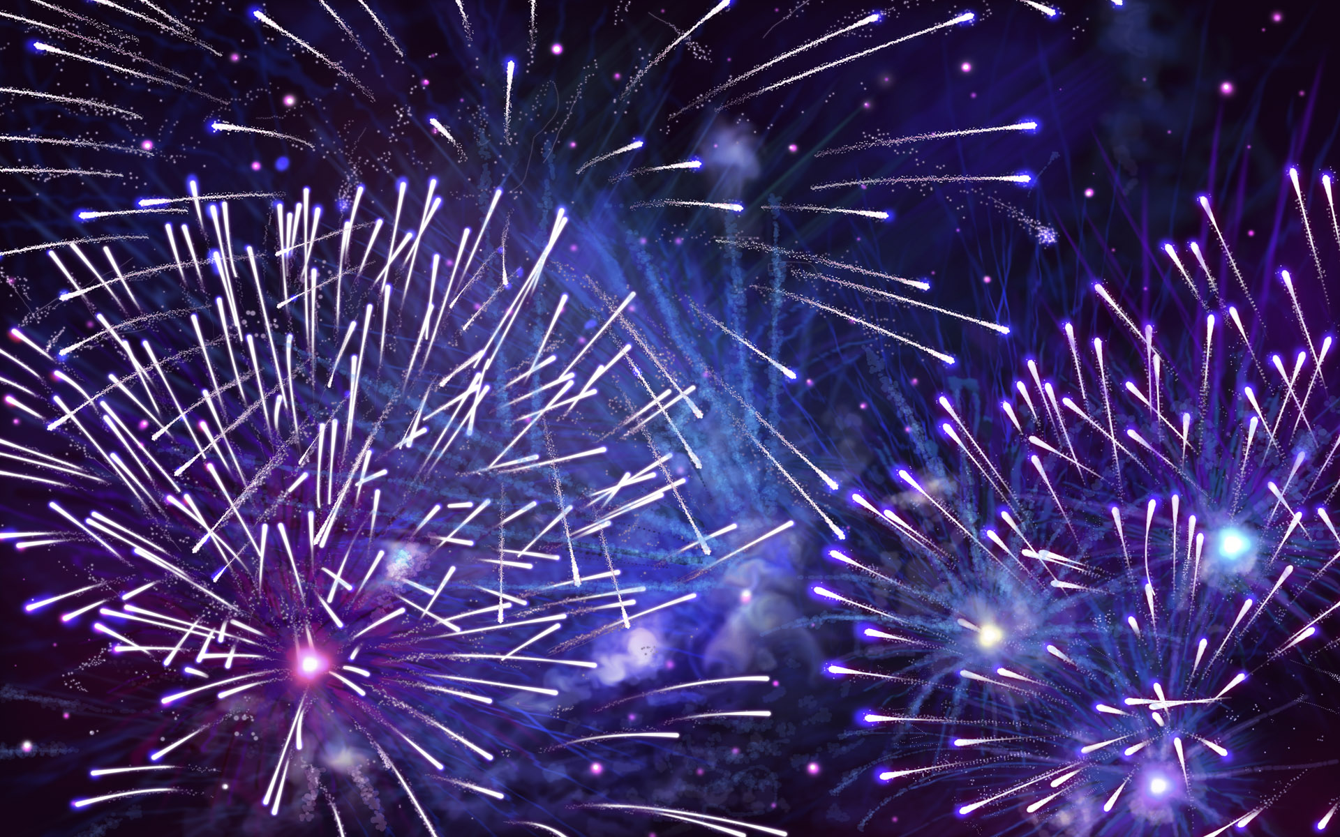 wallpaper happy desktop fireworks computer years images 1920x1200