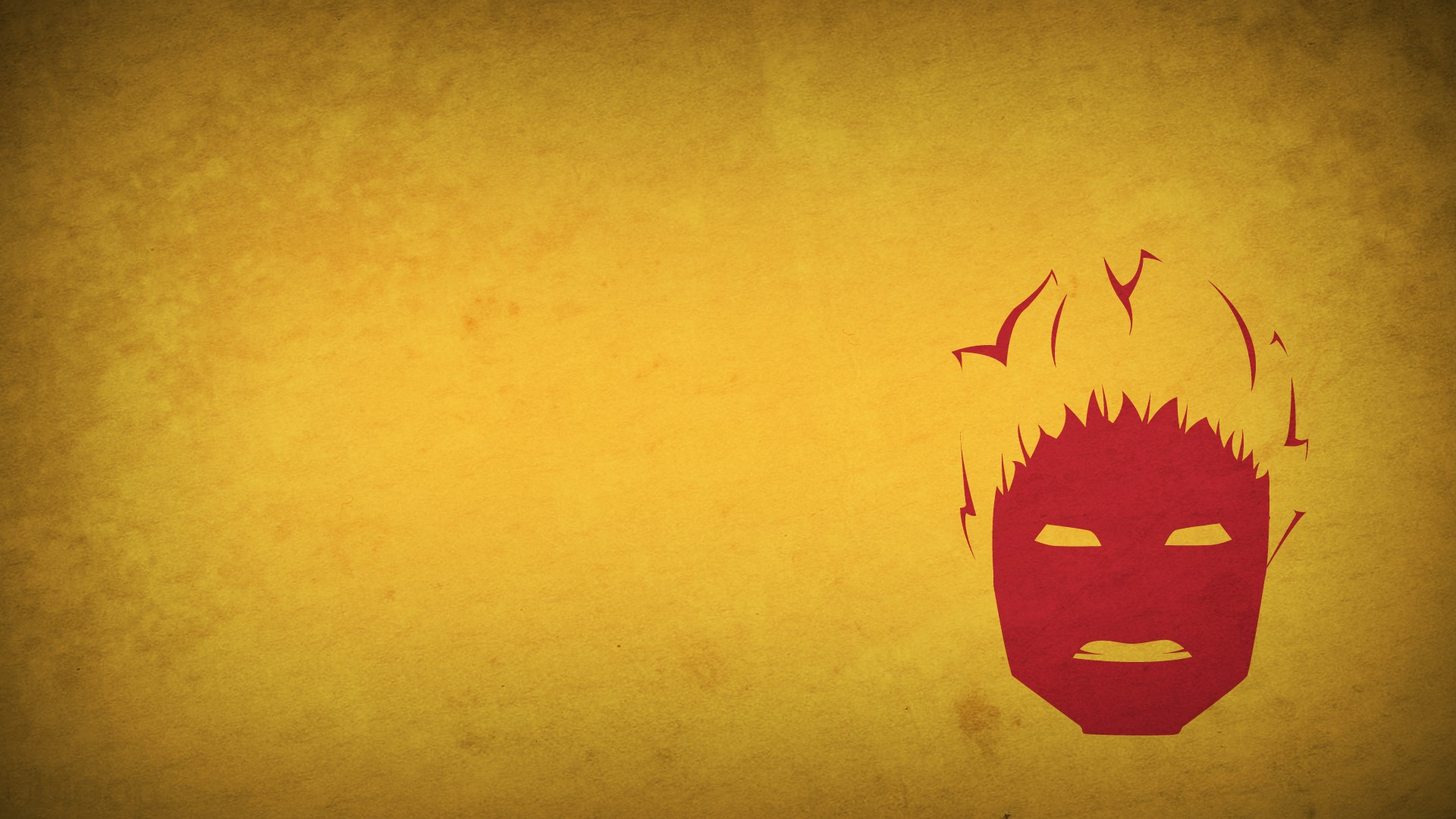 characters Human Torch yellow background blo0p wallpaper background 1920x1080