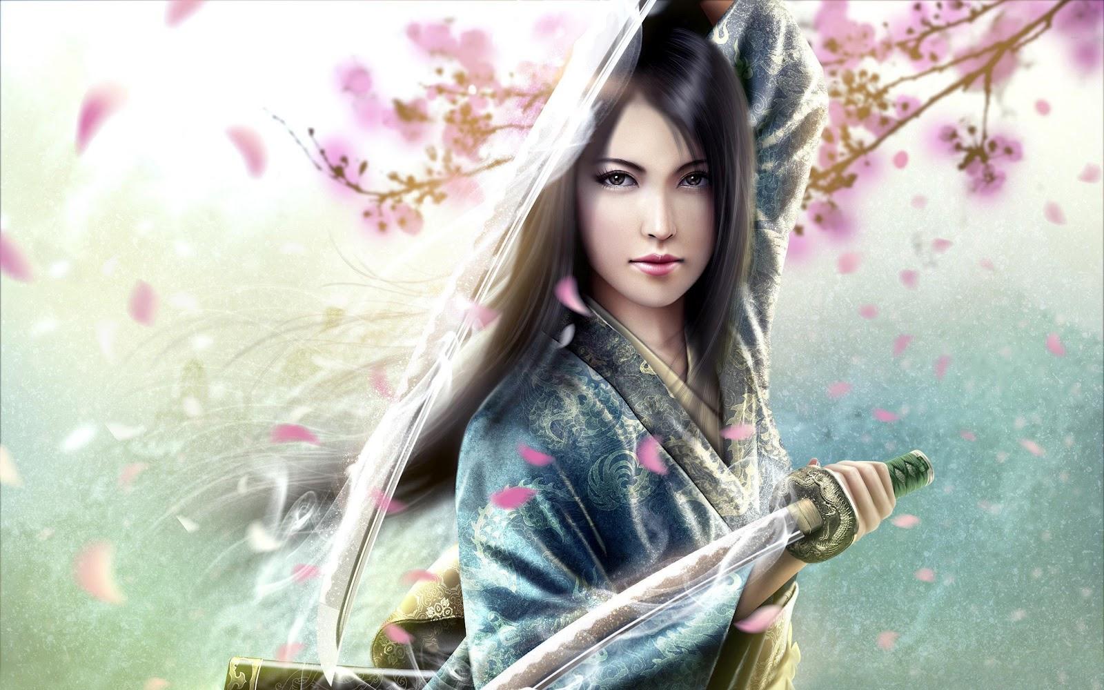 Samurai Girl Hd Wallpapers 8316 Wallpaper 1600x1000