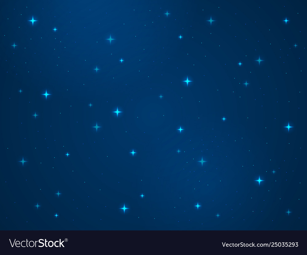 Cartoon space background stars cosmos night Vector Image 1000x830