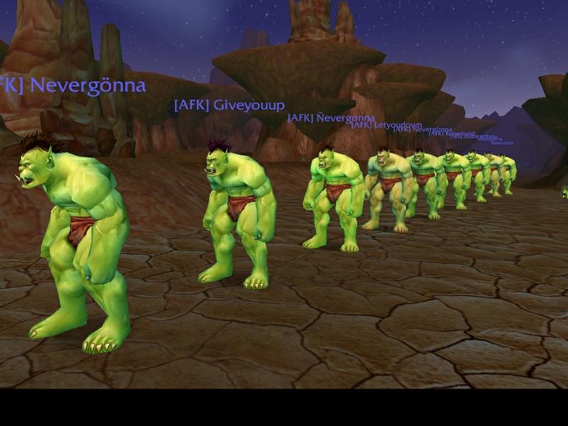 Free Download Orcs World Of Warcraft Orcs Rick Astley 1024x768