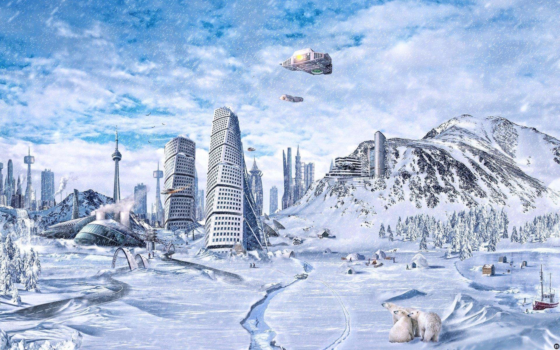 Fantasy Sci Fi Winter Background 1920x1200 1920x1200