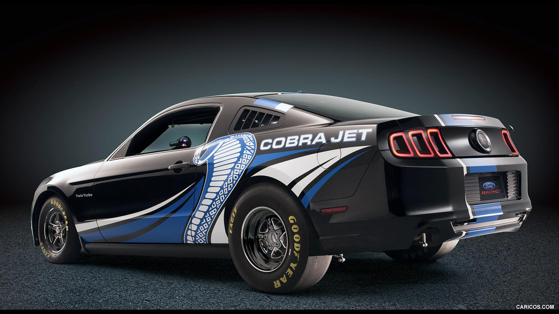 2012 Ford Mustang Cobra Jet Twin Turbo Concept Black   Rear HD 1920x1080