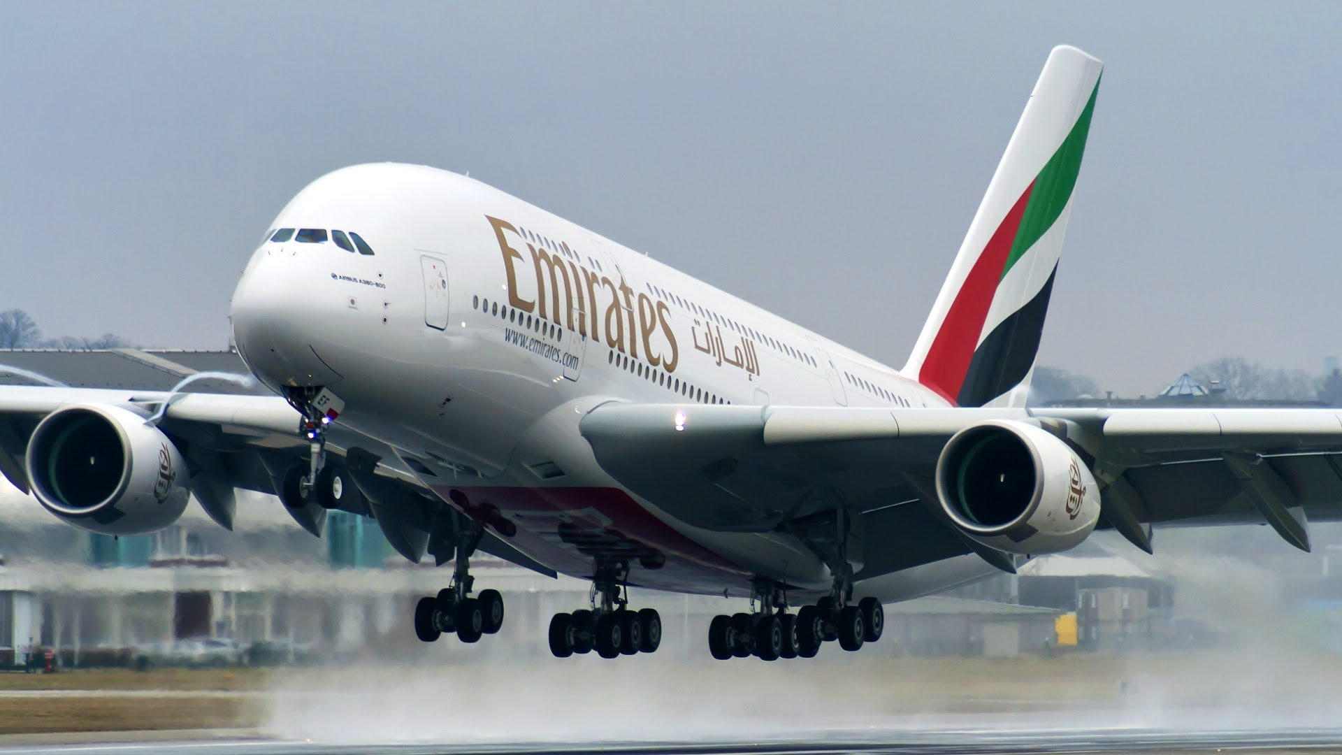 Amazing Airbus A380   First Flight of A6 EEF   Takeoff at 1920x1080