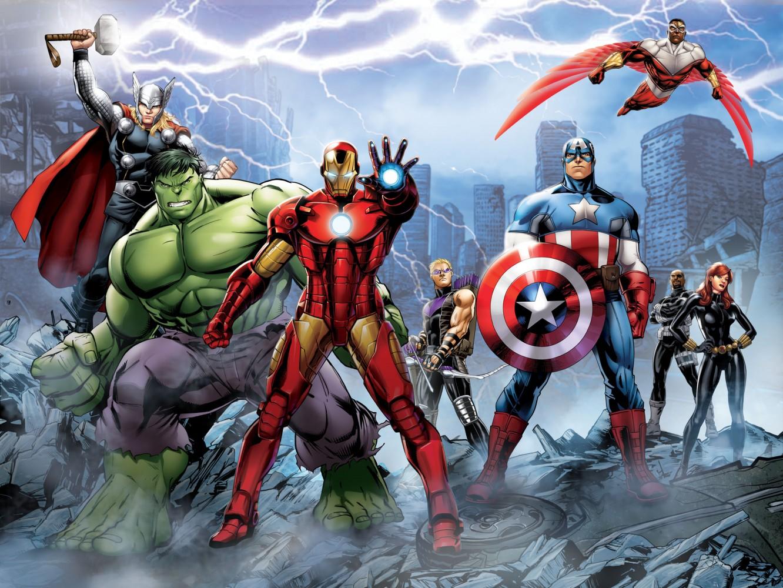 Avengers Wallpaper Mural - WallpaperSafari