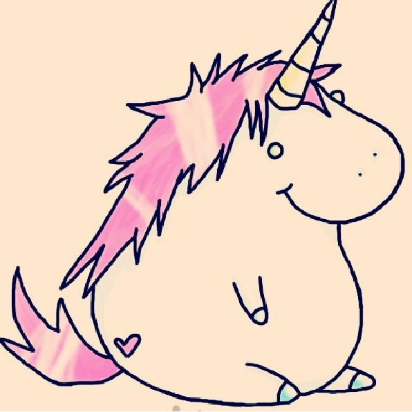 how to draw a fat unicorn
