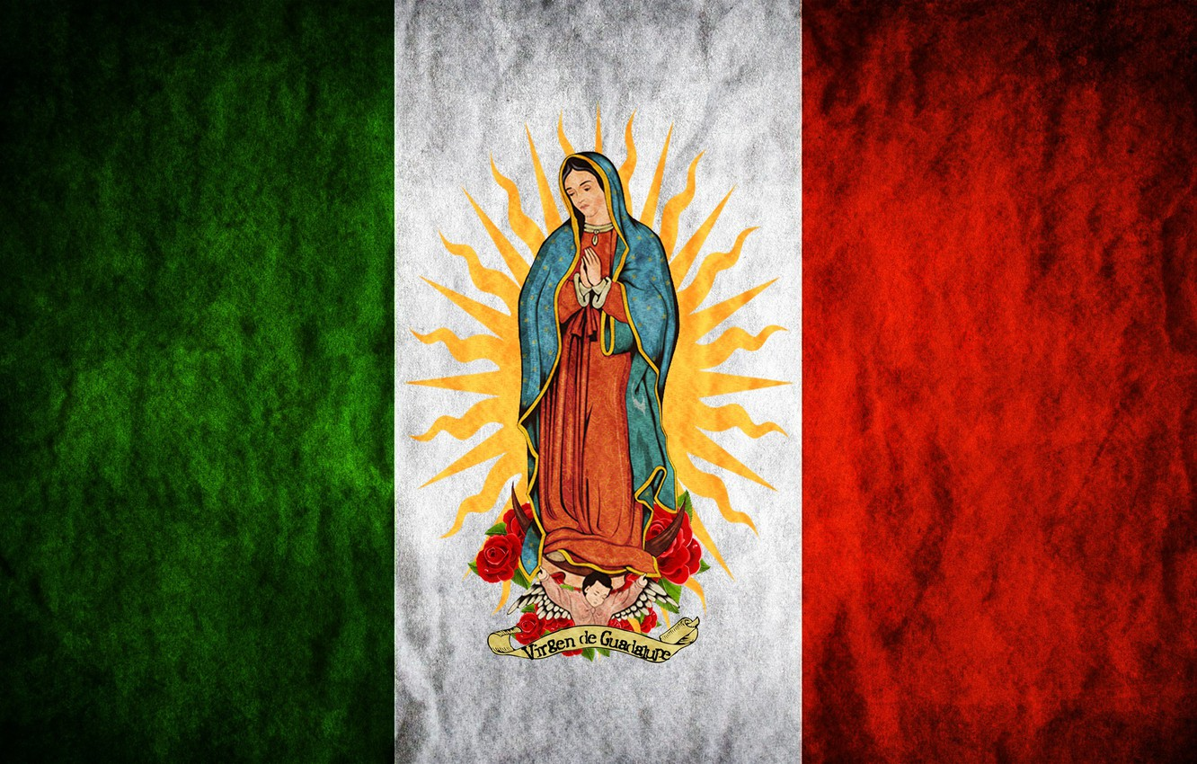 Wallpaper rose Mexico flowers sun flag Madonna Maria Regina 1332x850