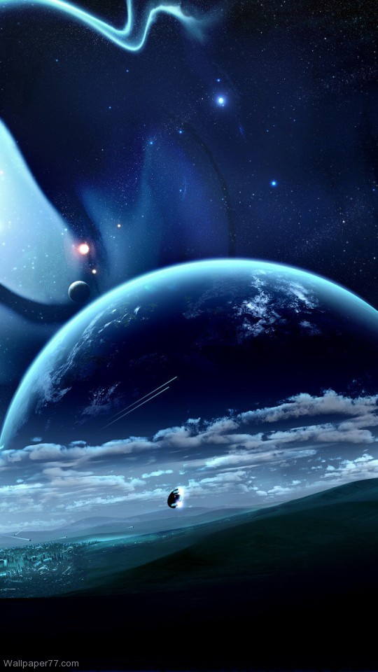 Black Earth Orbit Planet Planet Wallpapers Space Wallpapers 540x960