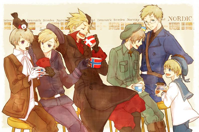 Hetalia Nordic 5 Wallpaper The nordic 5   hetalia fanart 794x525
