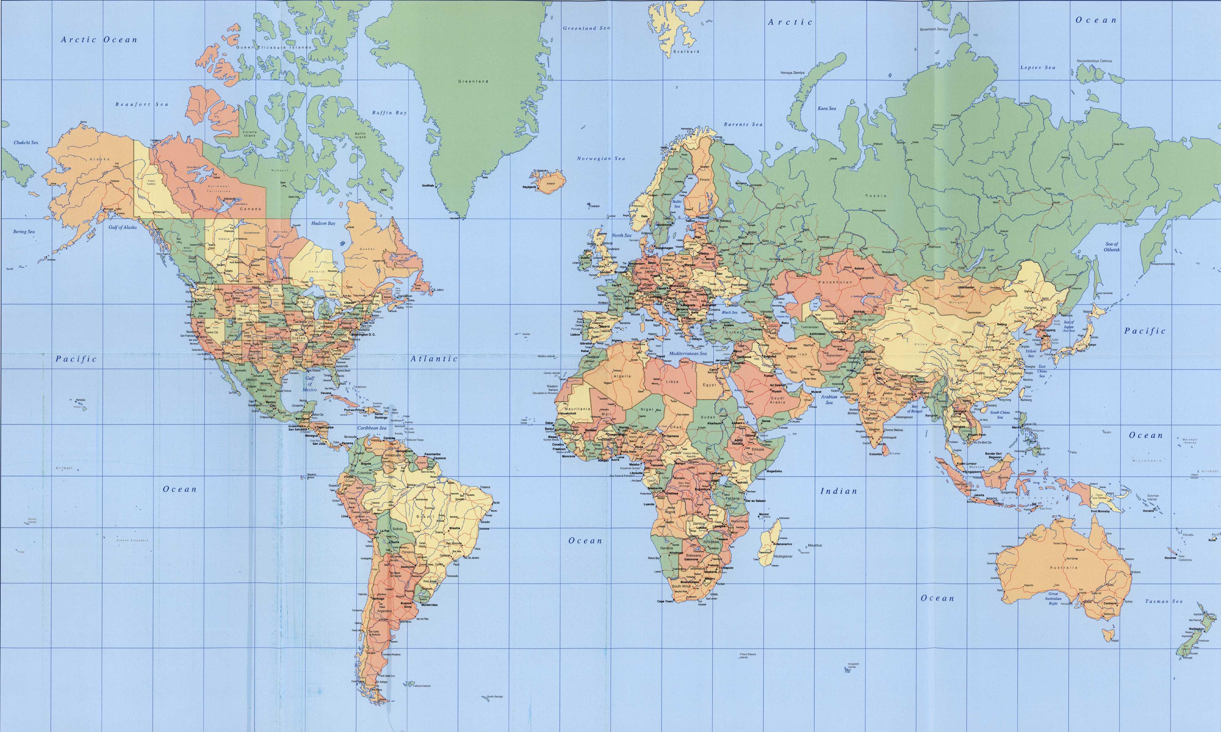 Siapkan gambar peta dunia ...