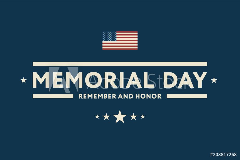 Wall Murals Memorial Day USA Greeting Card Banner Wallpaper 1000x667