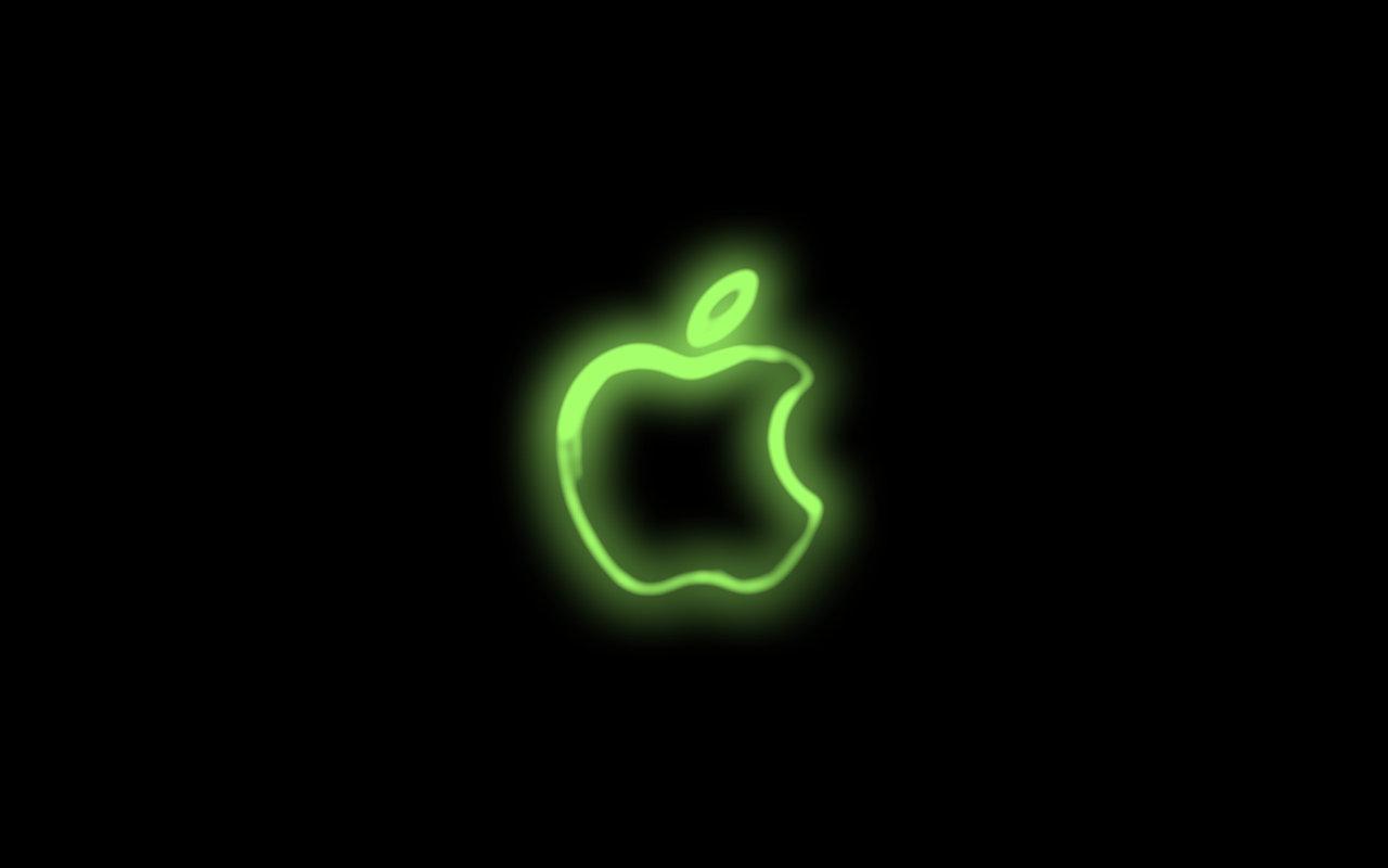 Apple neon wallpaper by iVille 1280x800