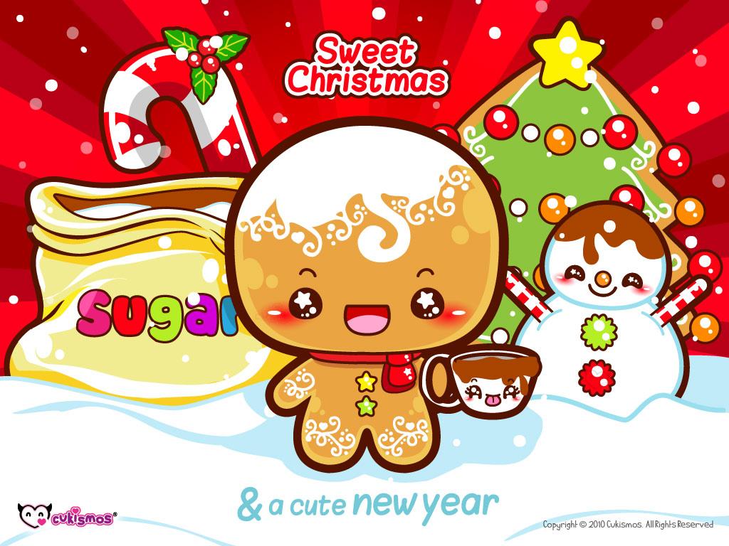 Gingerbread Man Christmas Wallpaper Kawaii Wallpapers 1024x768