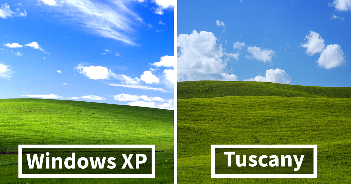 I Photographed Tuscany And It Looks Like The Classic Windows XP 1200x630