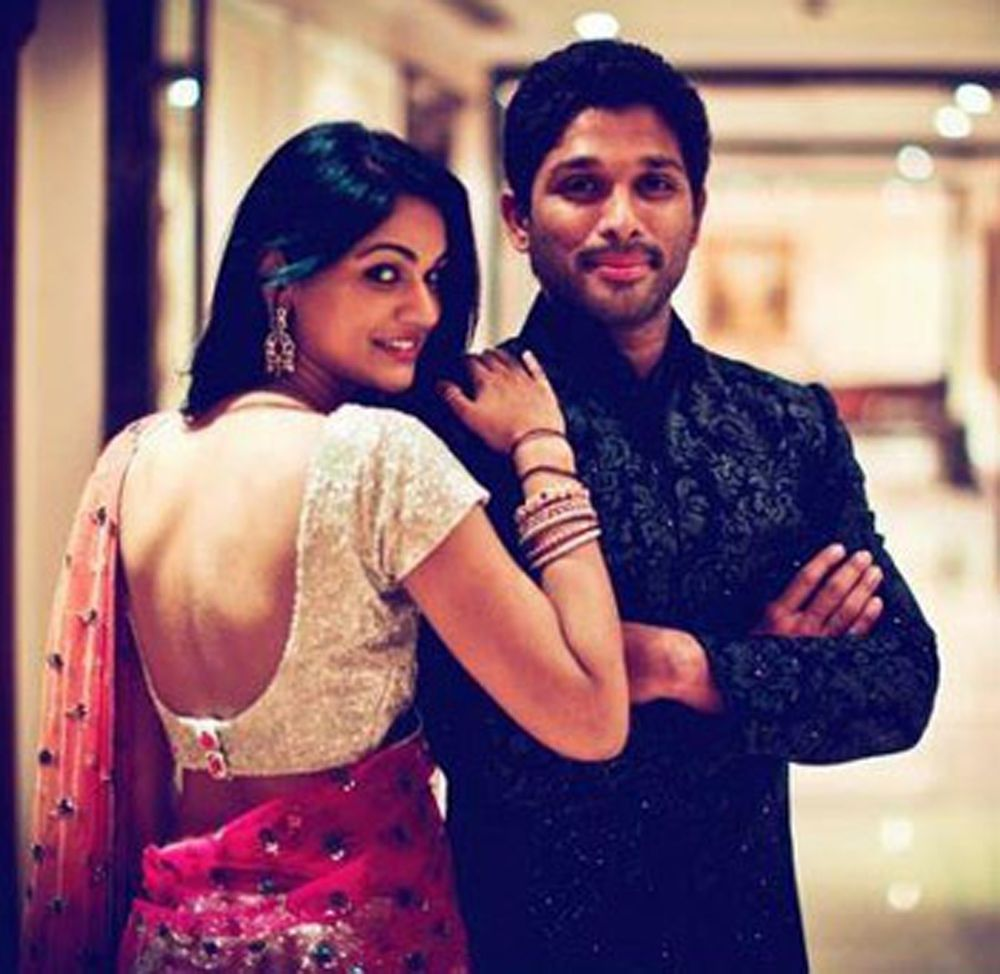 Allu Arjun and Sneha Reddy Unseen Photos 1000x974