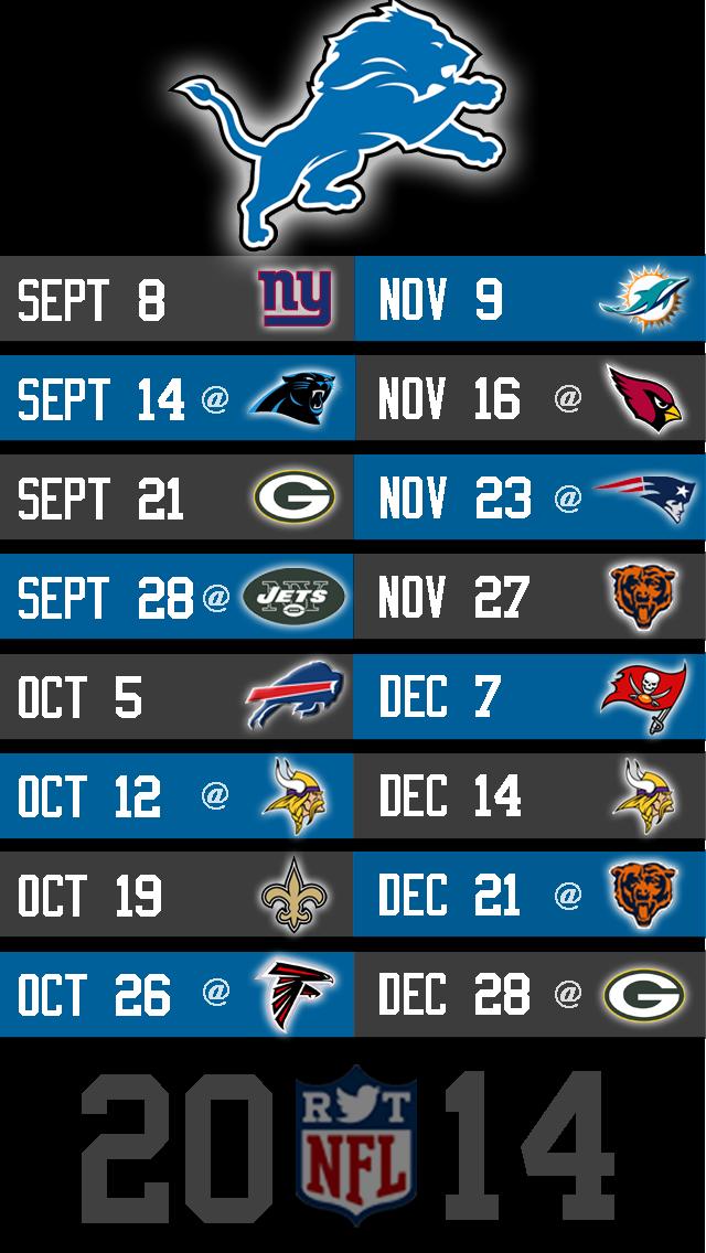 Lions iPhone 5 NFL Wallpaper 640x1136