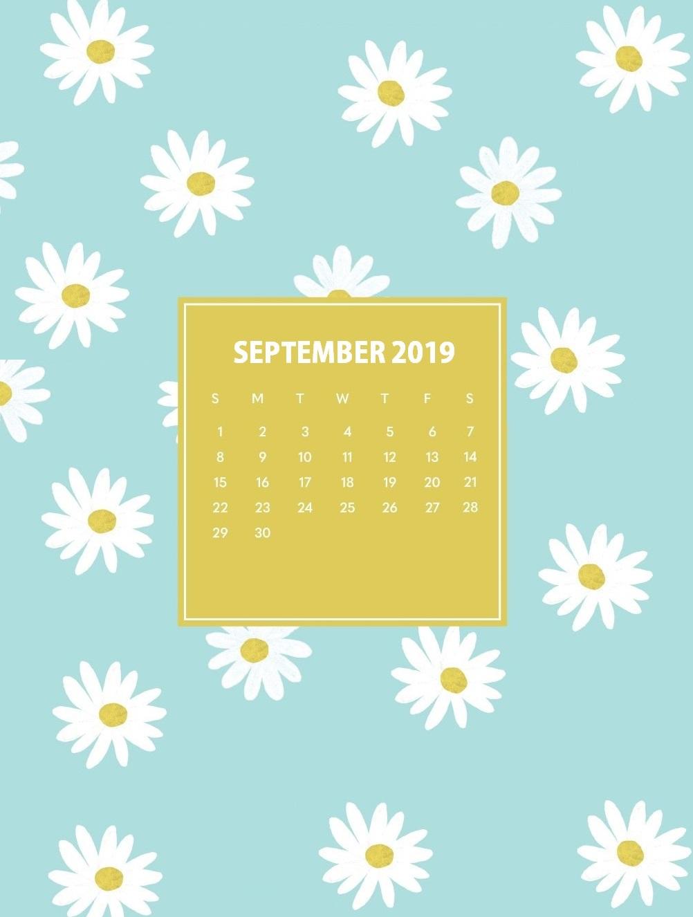 iPhone September 2019 Calendar Wallpaper Max Calendars 1002x1326