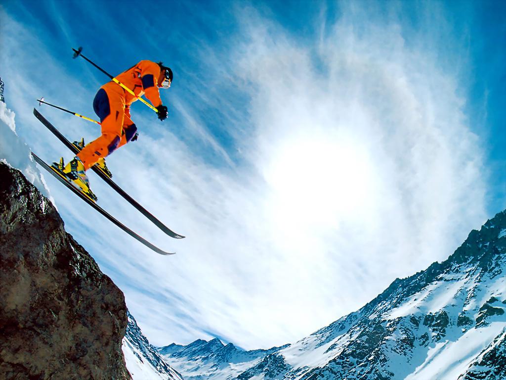 Wallpapersafari: Extreme Skiing Wallpaper