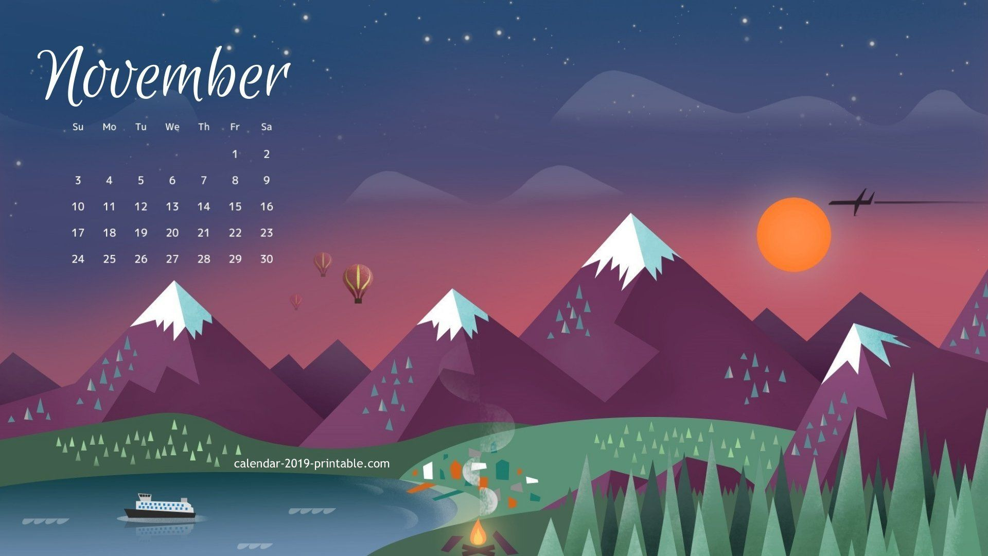 November 2019 Calendar Wallpapers   Top November 2019 1920x1080