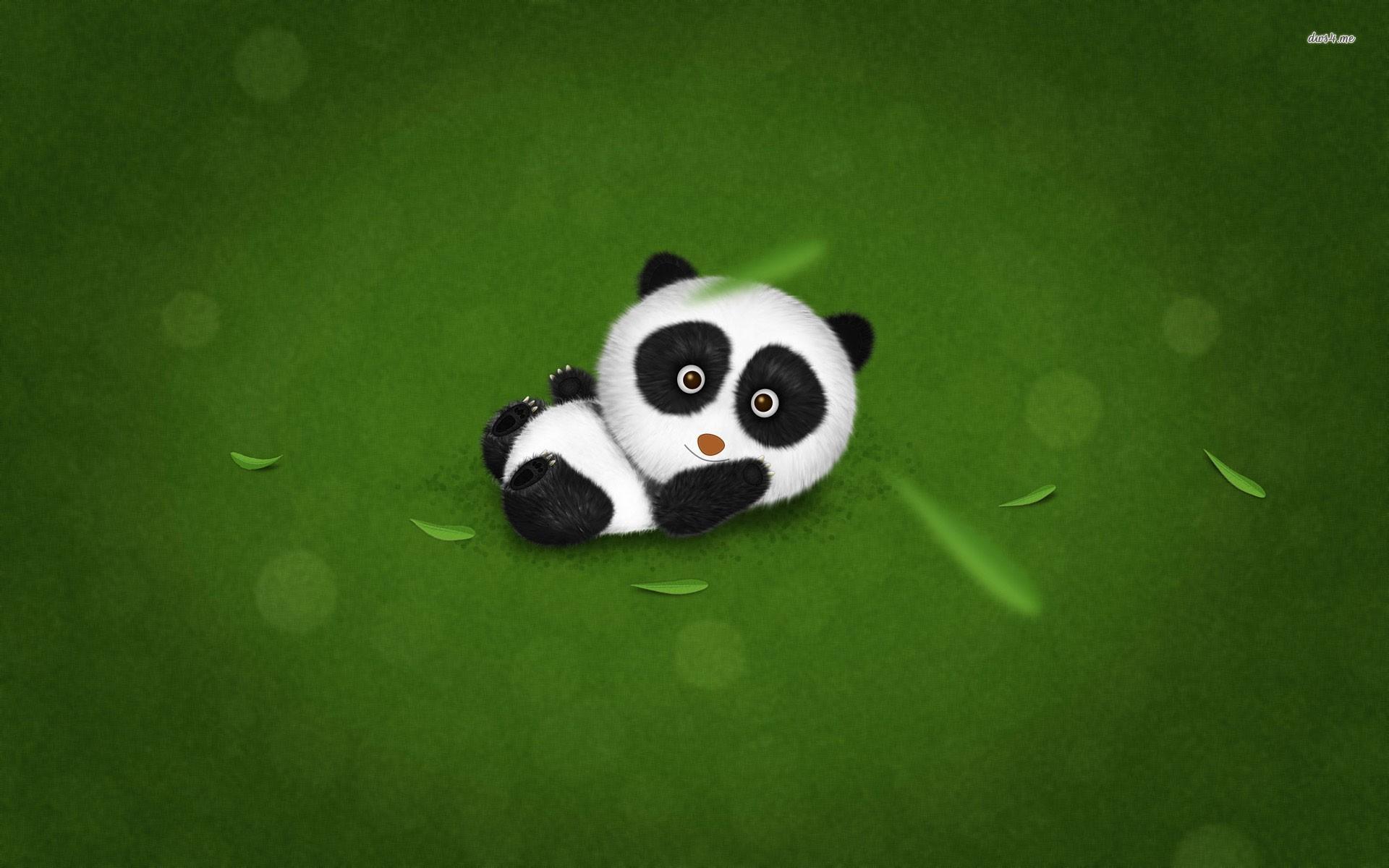 47 Cute Panda Desktop Wallpaper On Wallpapersafari
