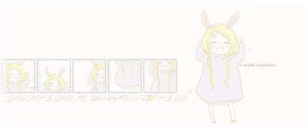 cute chibi girl wallpaper by x tenshii 600x249