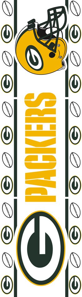 Green Bay Packers NFL Football Wall Border   Wall Sticker Outlet 263x945