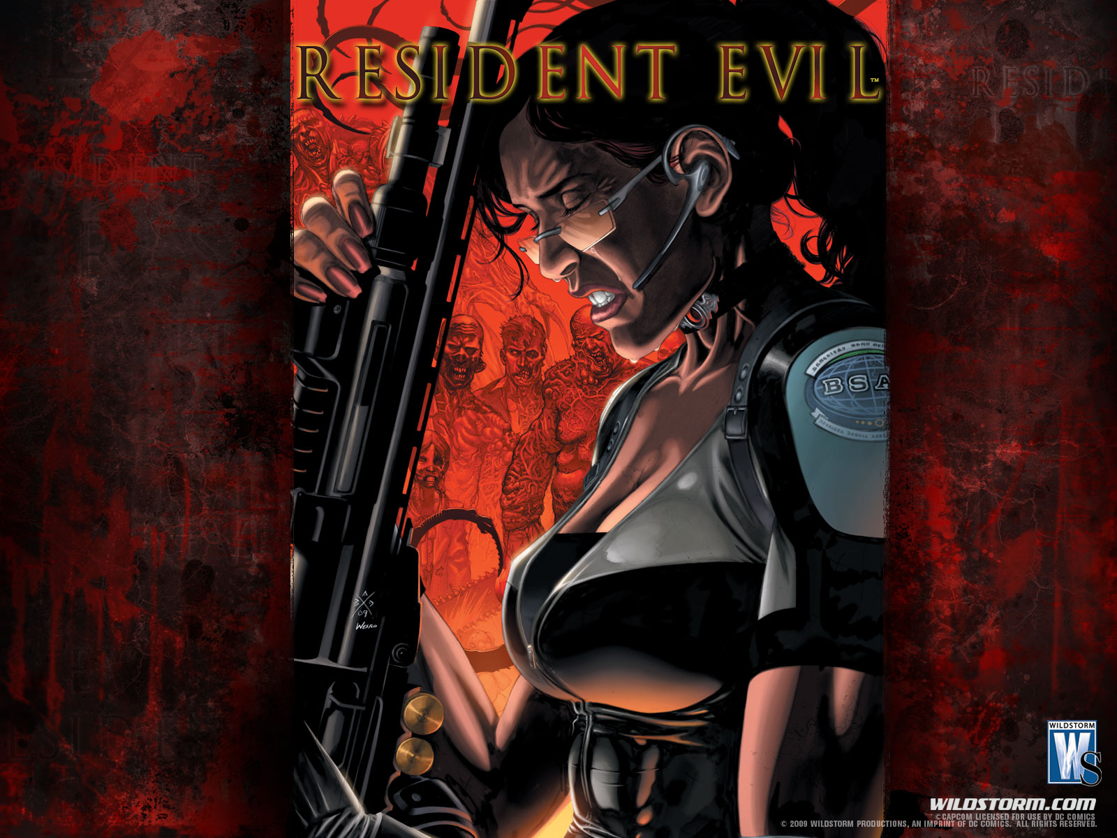 free the resident evil comic wallpapers free the resident evil comic