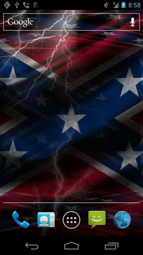 View bigger   3D Rebel Flag Live Wallpaper for Android screenshot 288x512