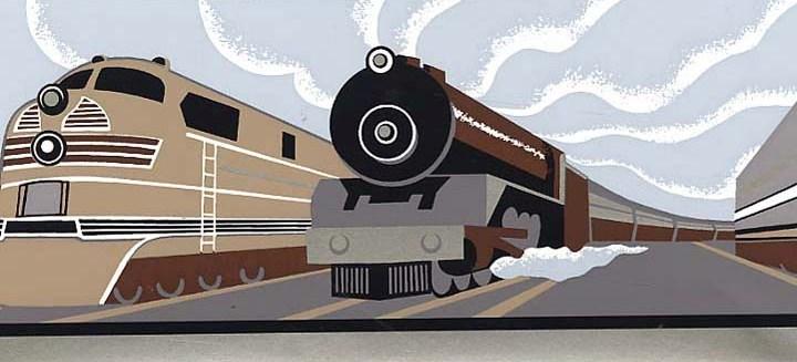 Vintage Train Wallpaper Border   Baby Nursery Kids Wallpaper Borders 720x327