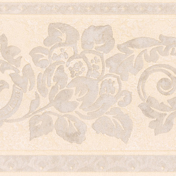 1765 Light Grey Floral Scroll Silhouette   Brewster Wallpaper Borders 600x600