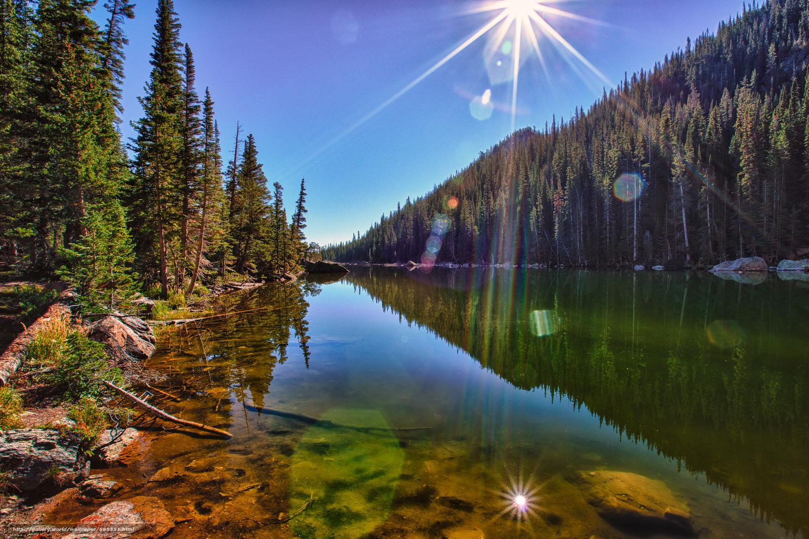 Download wallpaper Dream Lake Rocky Mountain National Park lake 1600x1067