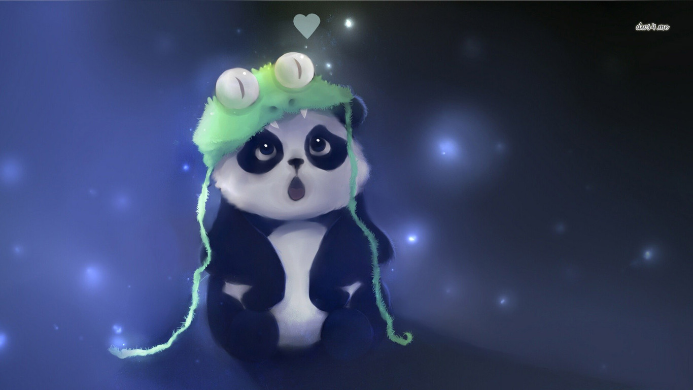 Cute Panda Wallpaper Artistic Wallpapers 12765 1366x768