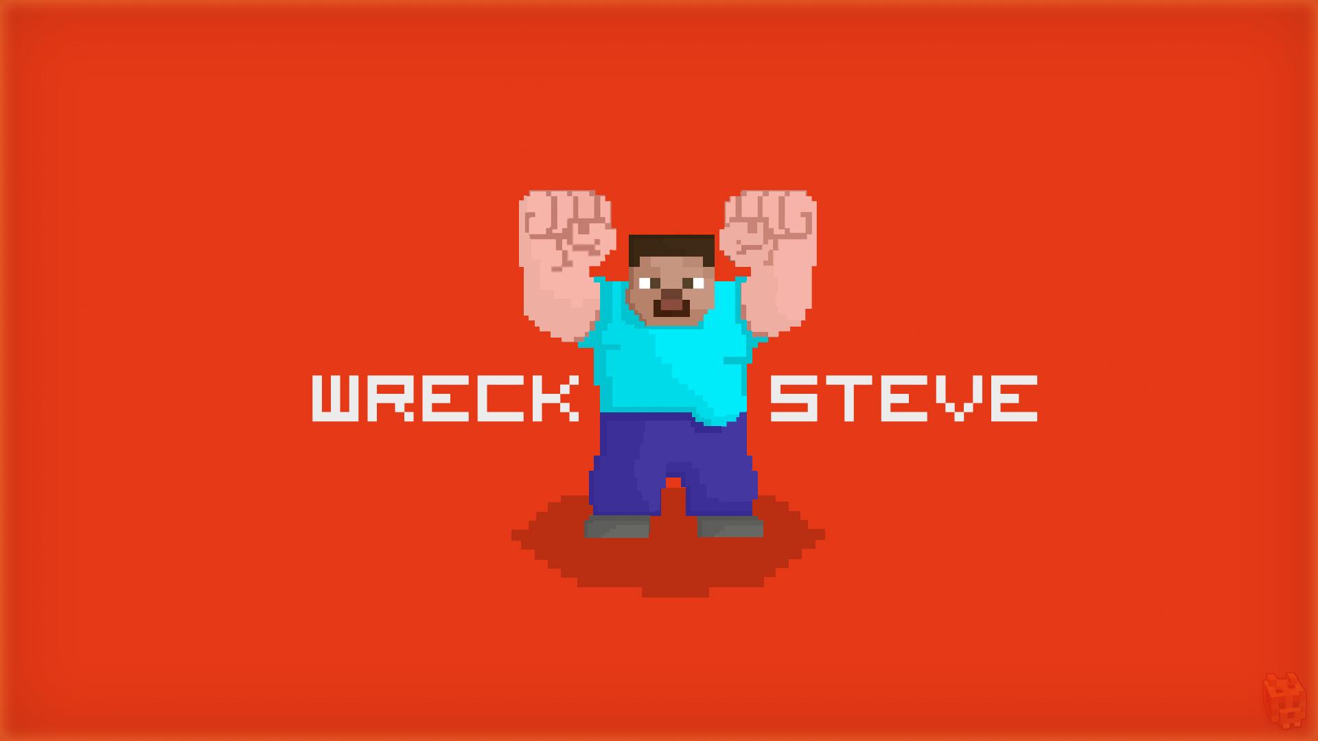 Wreck it Steve   Minecraft Wallpaper by Dentvanboo 1920x1080
