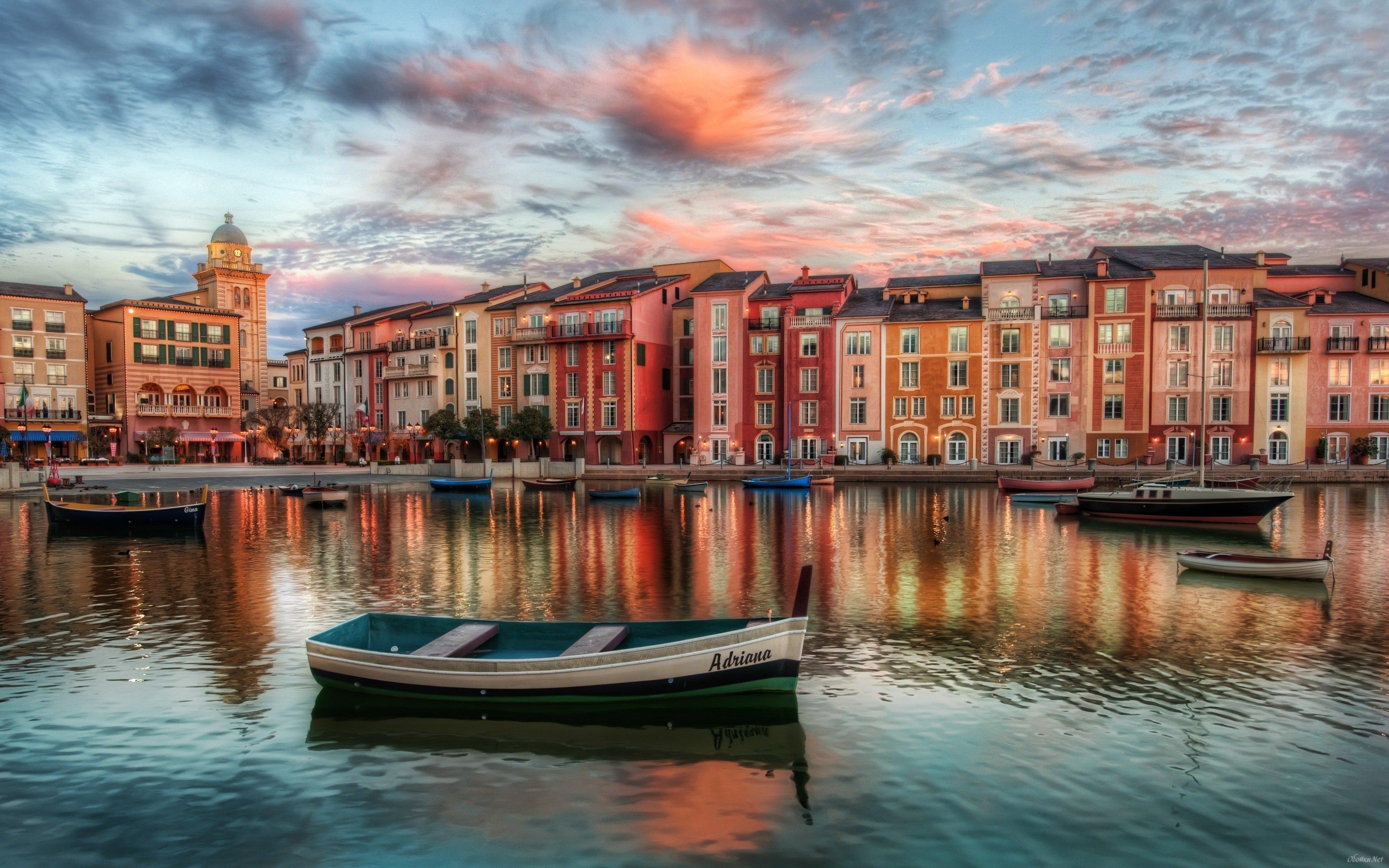 Street in Venice wallpaper HD Desktop Wallpaper 3200x2000