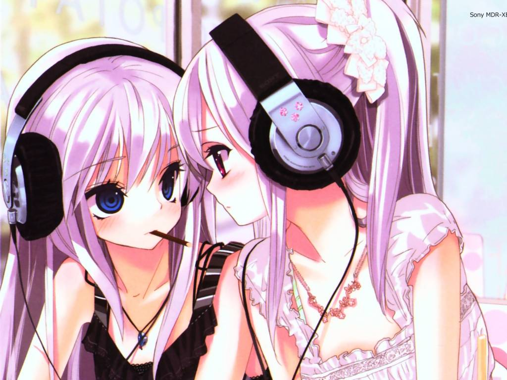cute headphone girls cute headphone girls 1024x768