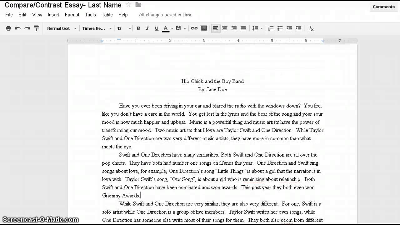 Title my essay