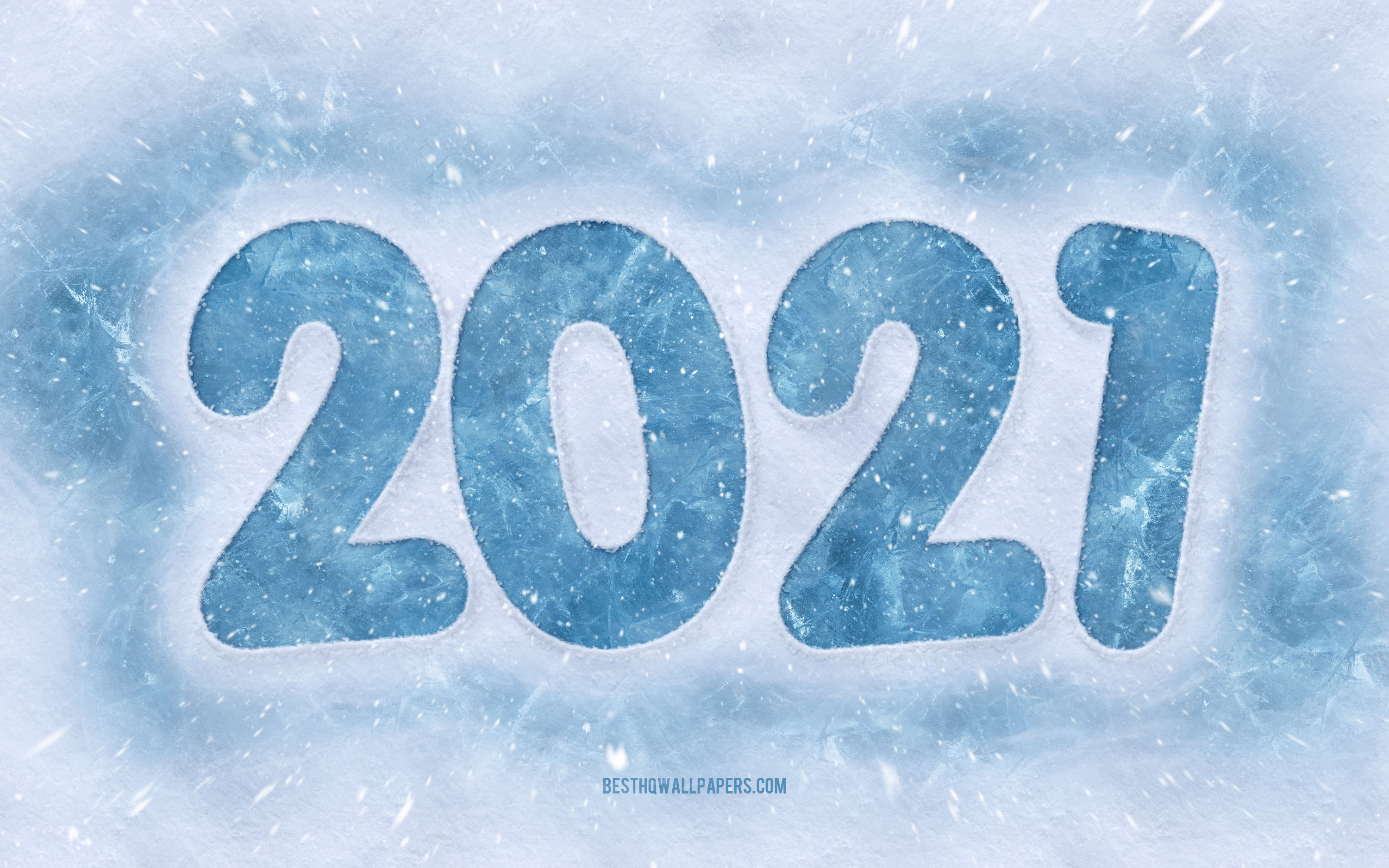Download wallpapers 2021 New Year 2021 Winter background Happy 3000x1875